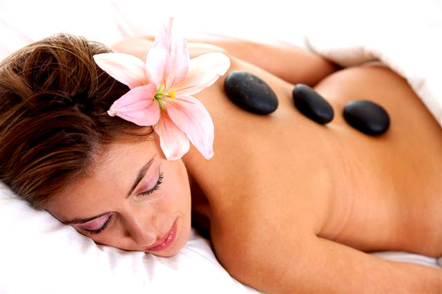 Hot stone krops massage